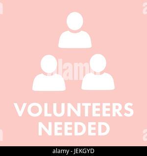 Zusammengesetztes Bild der Freiwillige gesucht - Stockfoto