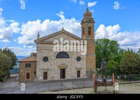 Chiesa della Madonna del Soccorso, Montalcino, Toskana, Italien - Stockfoto