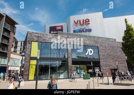 Der Rock Shopping Center in Bury, Lancashire - Stockfoto