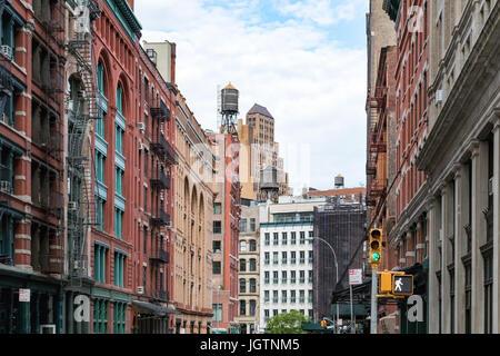Historischen Gebäude entlang Franklin Street im Stadtteil Tribeca in Manhattan, New York City NYC - Stockfoto