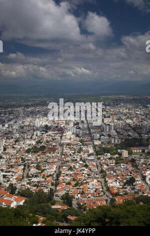 Argentinien, Provinz Salta, Salta, Blick vom Cerro San Bernardo - Stockfoto