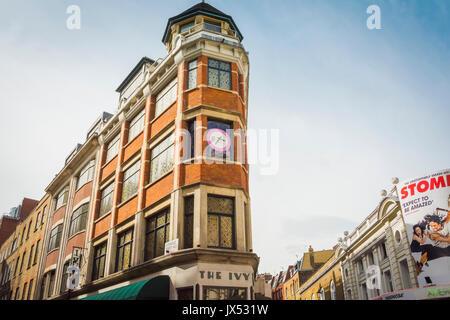 Die Ivy Restaurant in West Street, Covent Garden, London, UK - Stockfoto