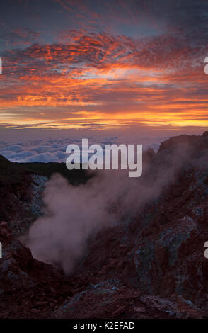 Fumarole, Socorro Island, Revillagigedo Archipel Biosphärenreservat/Inselgruppe de Revillagigedo UNESCO Weltnaturerbe - Stockfoto