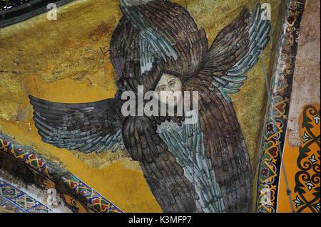 Byzantinische Fresken in der Hagia Sophia, Istanbul. - Stockfoto