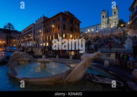 Die spanische Treppe in Rom, Italien - Stockfoto