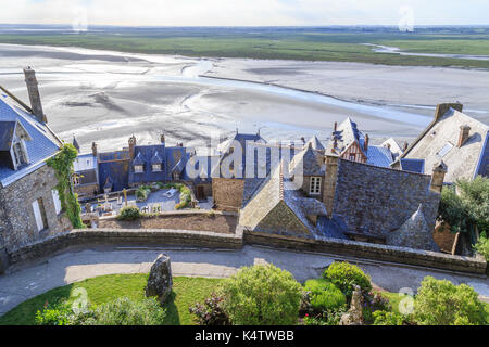 Frankreich, Calvados (50), Baie du Mont Saint-Michel classée Patrimoine Mondial de l'Unesco, Le Mont Saint-Michel, - Stockfoto