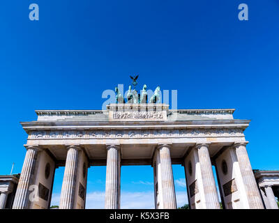 Das Brandenburger Tor in Berlin Deutschland - Stockfoto