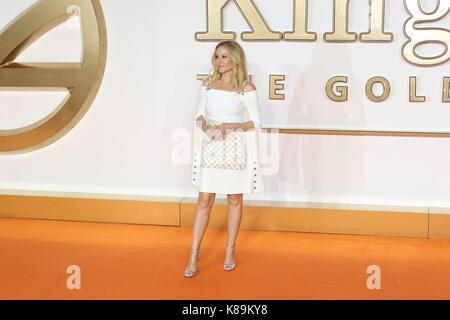 London, Großbritannien. 18 Sep, 2017. Kylie Minogue, Kingsman: Der Golden Circle - Weltpremiere, Leicester Square, - Stockfoto