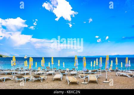 Berühmten Strand in Insel Brac, mediterrane Landschaft in Kroatien. - Stockfoto