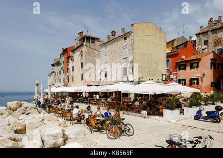 Kroatien, Dalmatien, Adriaküste, der Stadt Rovinj - Stockfoto