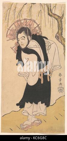 Der Schauspieler Nakamura Utaemon ich als Mönch unter einer Weide, Katsukawa Shunshō, 1726 - 1792 - Stockfoto