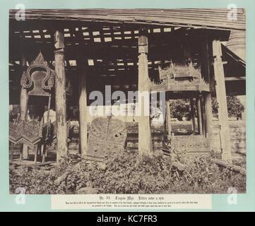 Tsagain Myo: Würfe unter einem Schuppen., Carl von Linné Kutteln, August 29 - 30, 1855 - Stockfoto