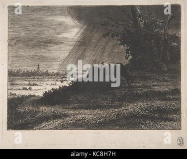 Landschaft mit Sturm, Baron Dominique Vivant Denon, 18. Jahrhundert - Stockfoto