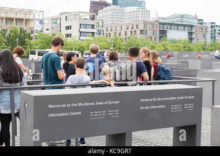 Berlin-Holocaust-Mahnmal - Stockfoto