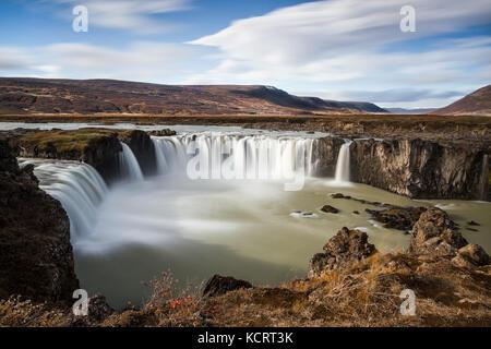 Godafoss Wasserfall in Bárðardalur, North East Iceland - Stockfoto
