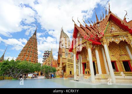 Kanchanaburi, Thailand - Juli 7, 2017: Wat Tham Sua ist die schönsten Tempel in Kanchanaburi, Thailand. 7. Juli - Stockfoto