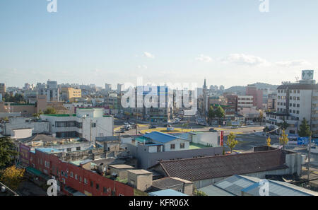 Tainan, 30.Oktober 2017: Stadtbild in Tainan, östlich von Seoul, Südkorea. die 23. olympischen Winterspiele wird - Stockfoto