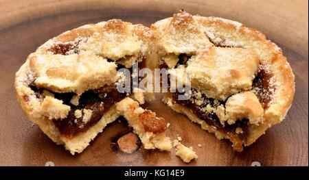 Alle butter Mince Pies - Stockfoto