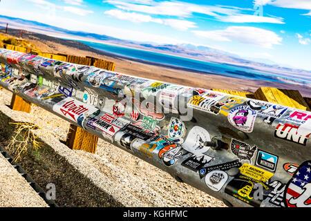 Von Mono Lake Vista Point entlang Kalifornien Highway 395 im östlichen Berge der Sierra Nevada. - Stockfoto