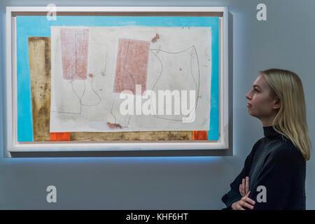 London, Großbritannien. 17. Nov, 2017. Ben Nicholson, Sept. 58 (Iseo), 1958 (est. 400,000-600 £ 000) - Moderne und - Stockfoto