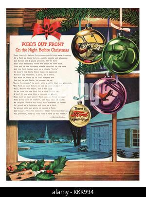 1947 US-Magazin Ford Motor Company Anzeige - Stockfoto