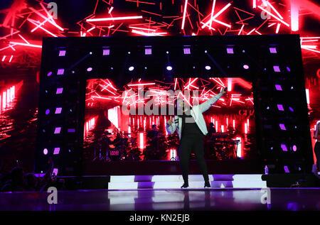 Craig David führt auf der Bühne während der Tag einer der Hauptstadt Jingle Bell Ball mit Coca-Cola in der Londoner - Stockfoto