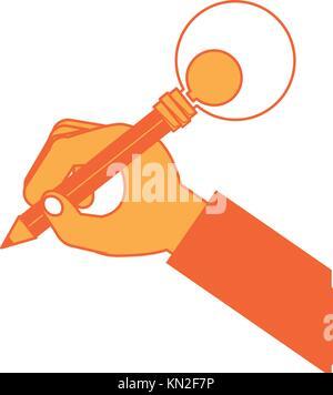 Hand mit einem Bleistift - Stockfoto