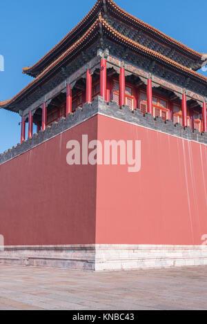 Dach Dekoration in der Verbotenen Stadt in Peking, China. - Stockfoto