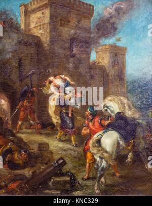 Die Entführung von Rebecca, Eugène Delacroix, Louvre Museum, Paris, Frankreich - Stockfoto