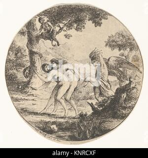 Adam und Eva aus dem Paradies vertrieben. Artist: Baron Dominique Vivant Denon (Französisch, Givry 1747-1825 Paris); - Stockfoto