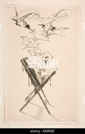 Frontispiz für Katalog Der zweite Teil der wichtigen Sammlung moderner Radierungen, Kupferstiche und Lithographien, - Stockfoto