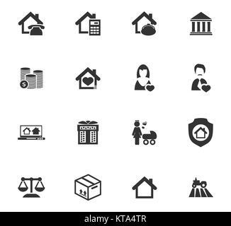 Immobilien Symbole eingestellt - Stockfoto