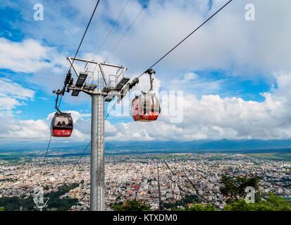 San Bernardo Hill Seilbahn, Salta, Argentinien, Südamerika - Stockfoto