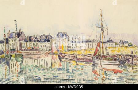 Le Croisic, von Paul Signac, 1928, French Post-Impressionist Aquarell Malerei. Signac angewandte Aquarell über eine - Stockfoto