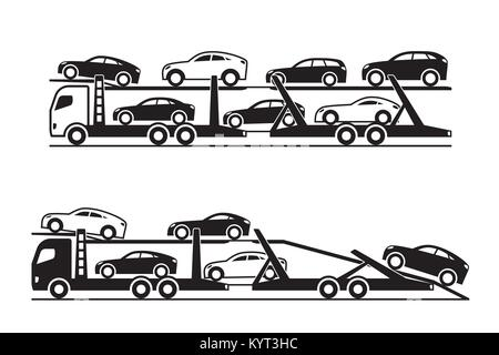 Auto transporter Lkw-Vector Illustration - Stockfoto