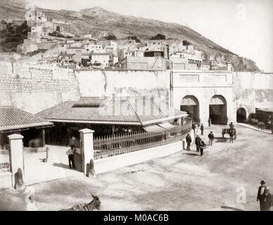Stadt Gateway, Felsen von Gibraltar, c 1880 - Stockfoto