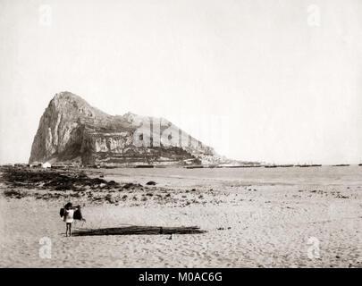 Felsen von Gibraltar, c 1880 - Stockfoto