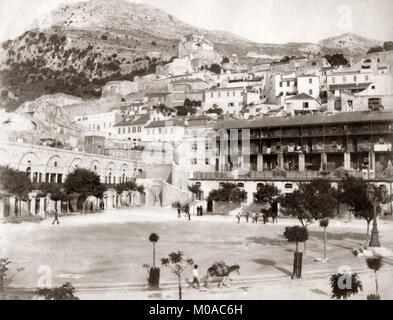 Felsen von Gibraltar, 1880 - Stockfoto