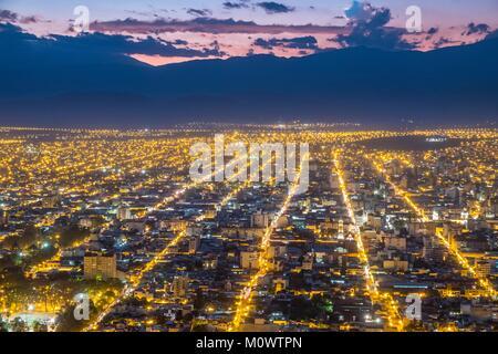 Argentinien, Provinz Salta, Salta, allgemeine Ansicht der Stadt von San Bernardo Hill - Stockfoto