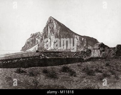Der Felsen von Gibraltar, c 1880 - Stockfoto