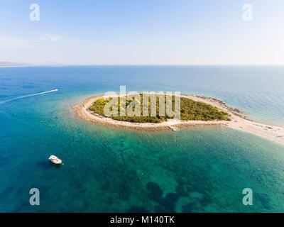 Kroatien, Dalmatien, Dalmatinischen Küste, Zadar, Insel Dugi Otok, Sakarun Strand (Luftbild) - Stockfoto