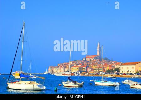 Rovinj, touristische Destination in Istrien, Kroatien - Stockfoto