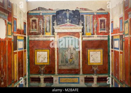 Cubiculum B des alten römischen Villa Farnesina, Römische nationalen Museen, dem Palazzo Massimo. - Stockfoto