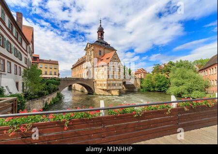 Das Alte Rathaus 'Altes Rathaus' in Bamberg. - Stockfoto