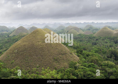 Die Chocolate Hills - Stockfoto