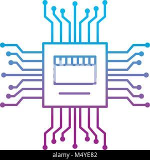 Motherboard Stromkreis high tech elektrische Symbol Hardware - Stockfoto