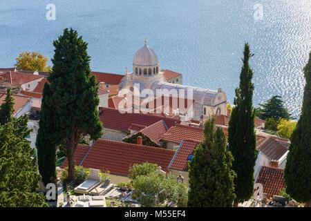 Kathedrale des Hl. Jakobus, Sibenik, Kroatien - Stockfoto