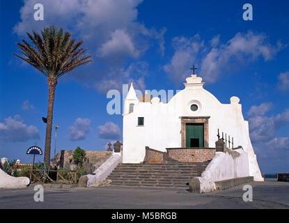 Forio, Chiesa del Soccorso, Insel Ischia, Italien, Europa - Stockfoto