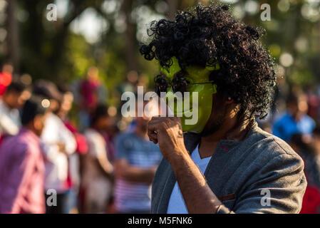 Goa/Indien - Feb 12 2019: Karneval Umzugswagen und Kostüm Party in Goa, Indien - Stockfoto