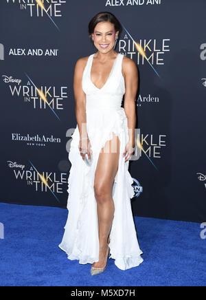 "Hollywood, CA, USA. 26 Feb, 2018. 26. Februar 2018 - Hollywood, Kalifornien - Toni Trucks. Disney's ""A Wrinkle In - Stockfoto"